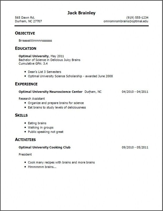 Resume Format For Teaching Jobs | Samples Of Resumes