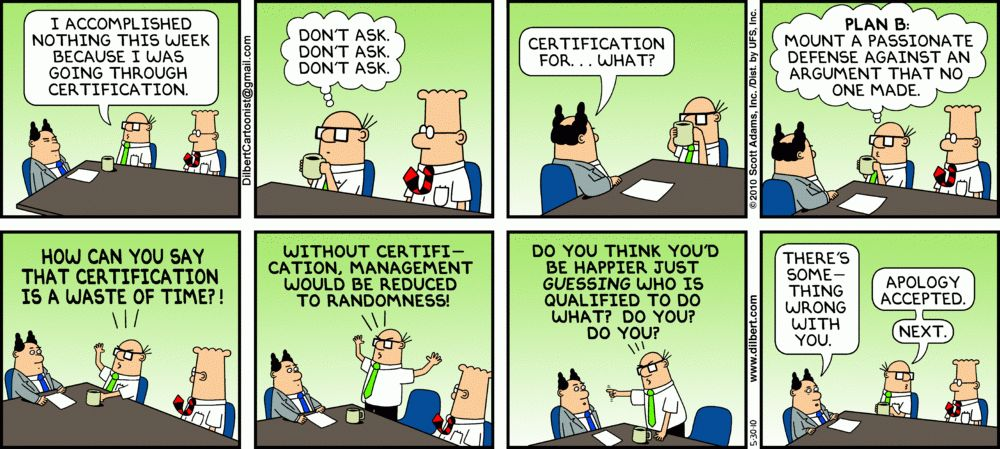 Straw man fallacy from Dilbert   PACTISS – Philosophers and ...