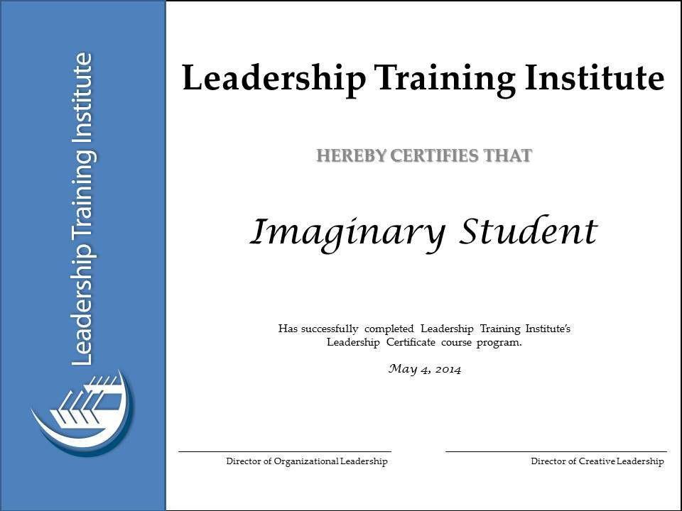 Leadership Training Institute – Leadership Training Certificate Course