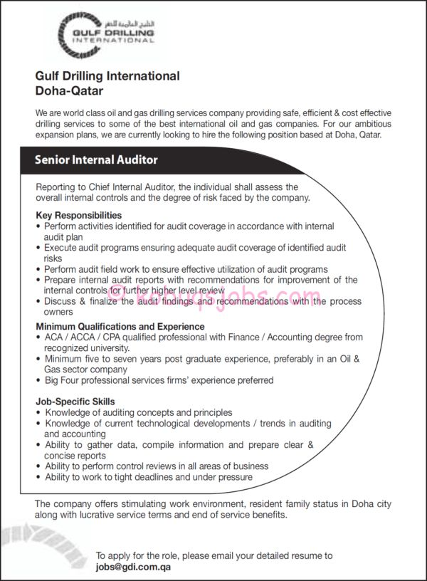 Senior Internal Auditor for Finance Manager Resume and Key ...