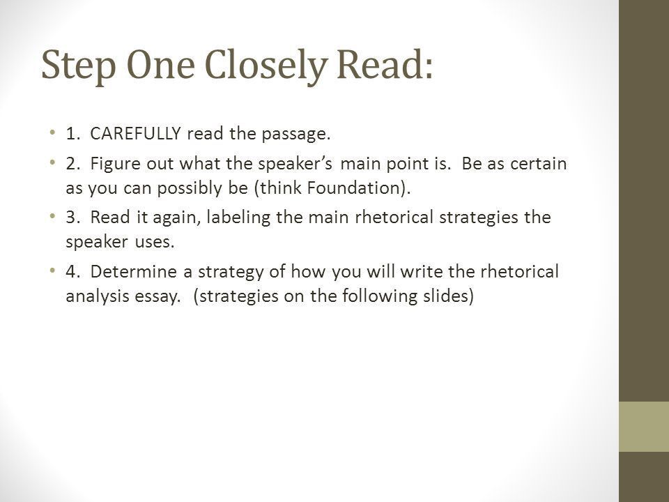 How to write a rhetorical analysis - ppt download