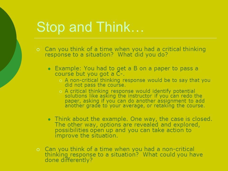Using Critical Thinking Skills to Be a Better Student - ppt video ...