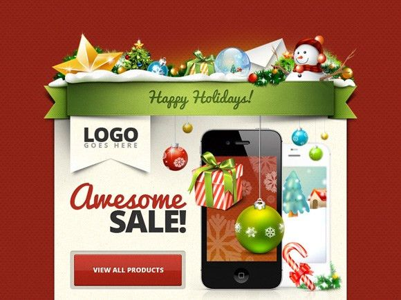 30 Free PSD Files for Create Christmas Cards