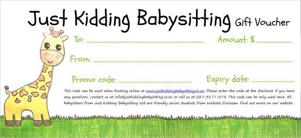 Baby sitting Voucher Template – 10+ Free Word, PDF Documents ...