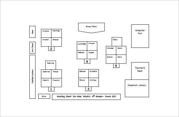 Classroom Seating Chart Template - 14+ Examples in PDF, Word ...