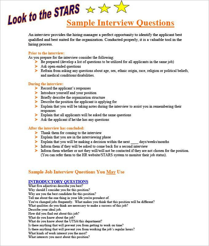 Sample Interview Questions. Medical Receptionist Interview ...