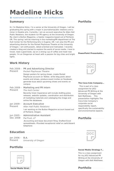 Advertising Director Resume samples - VisualCV resume samples database