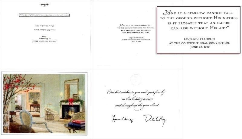 See Cheney's Christmas Card - What Words Come To Mind?