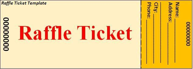 Raffle Ticket Template Download Page | Word Excel Formats