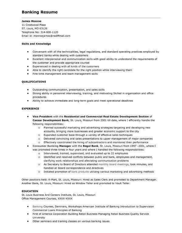 Download Resume For Bank Teller | haadyaooverbayresort.com