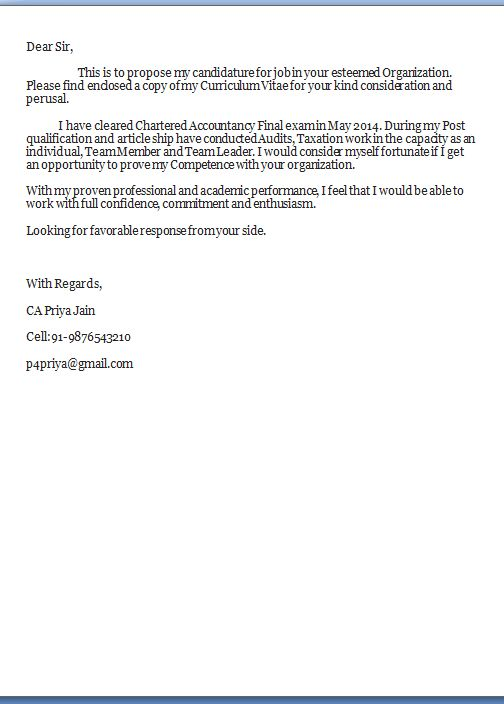 cover letter name for Cover Letter Title - My Document Blog