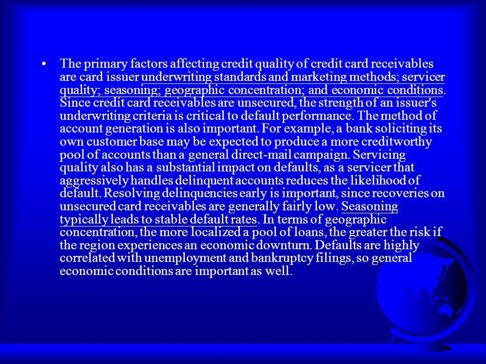 Credit Card Securitization - ppt download