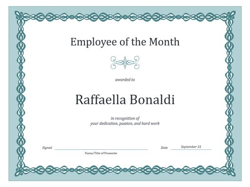 Employee Of The Month Template | tristarhomecareinc