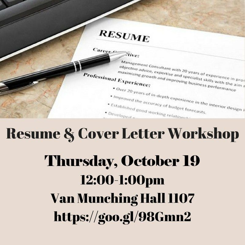 Resume/Cover Letter Workshop | School of Public Policy