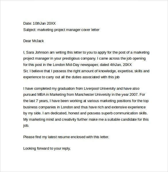 Marketing Cover Letter Examples - 10+ Download Free Documents in ...