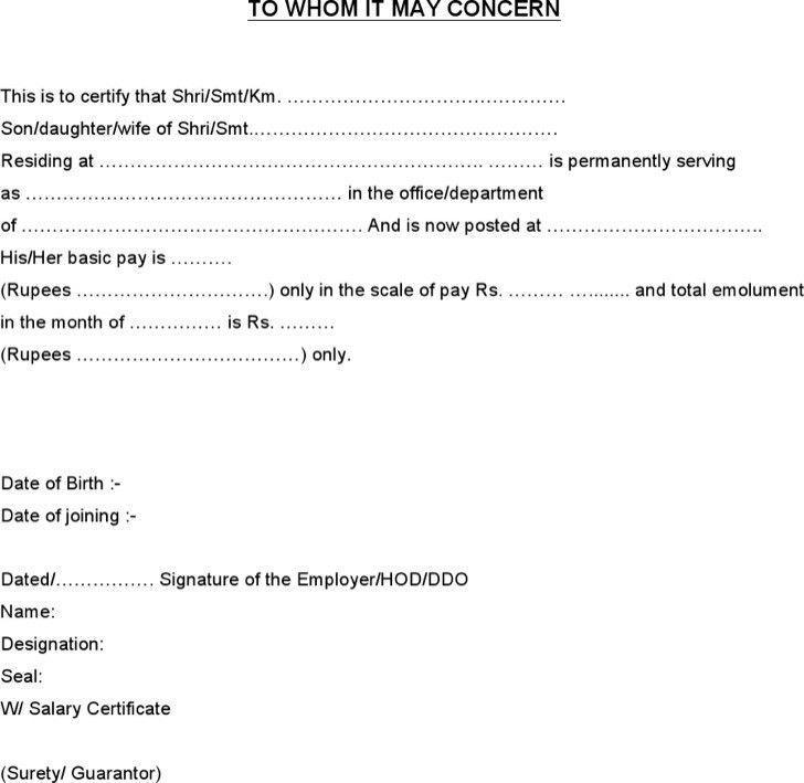 Salary Certificate Templates   Download Free & Premium Templates ...