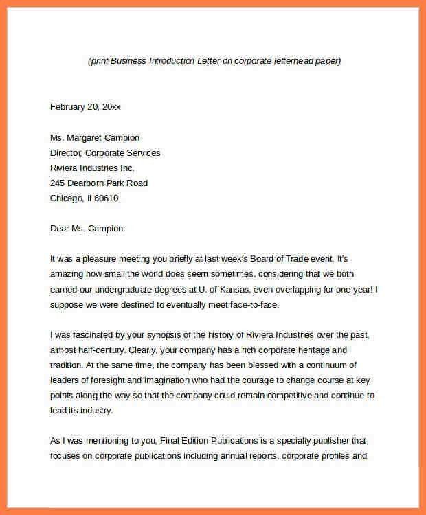 8+ sample company introduction letter pdf | Company Letterhead