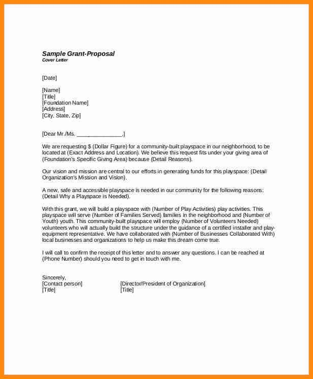 grant cover letter how to write a grant proposal cover letter - Grant Proposal Cover Letter