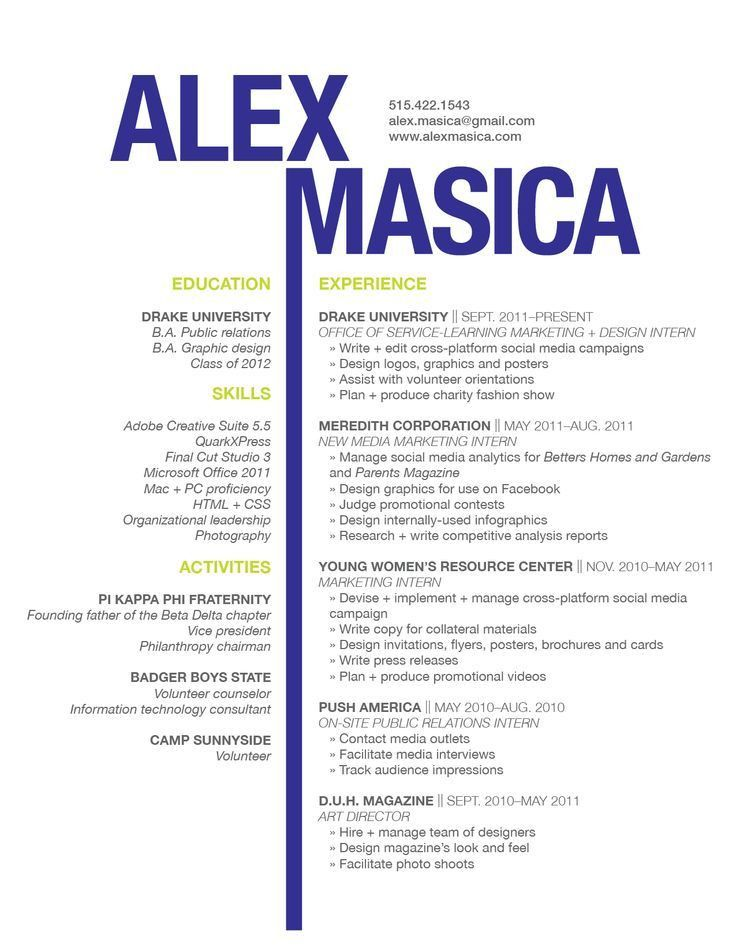graphic design resume examples - Template