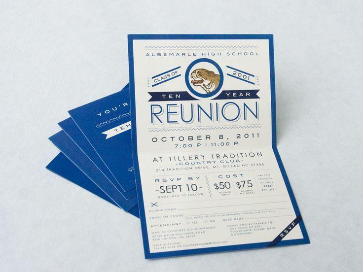 28 best Reunion Invitations images on Pinterest | Class reunion ...