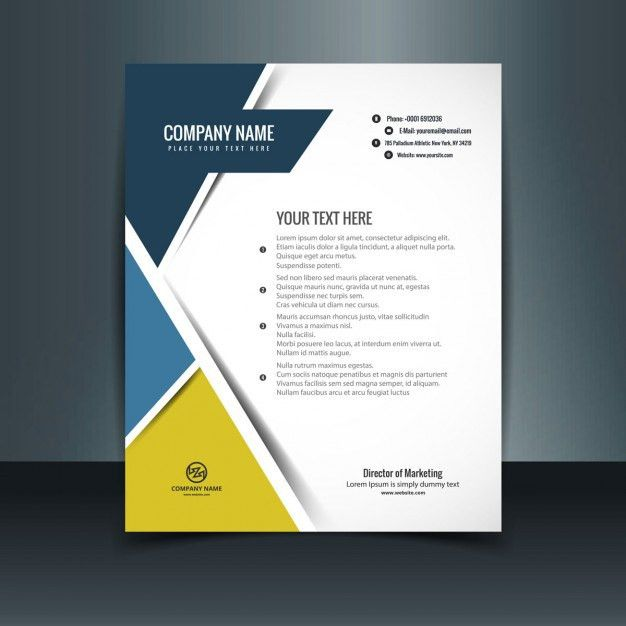 Modern letterhead template Vector | Free Download