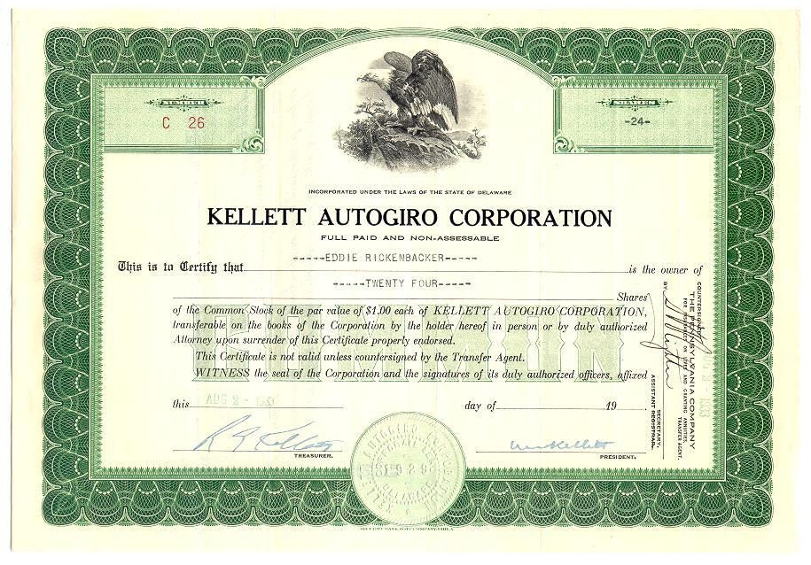 NORRICO, Inc - Sample Old Stock Certificates from our Scripophily ...