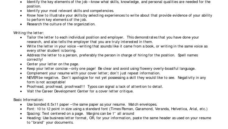 Resume Cover Letter Career Change