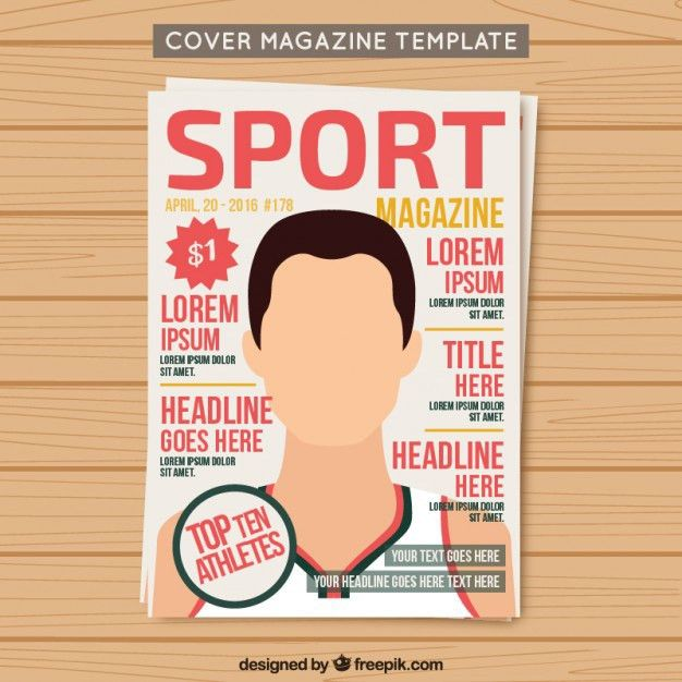 Cover sport magazine template Vector | Free Download
