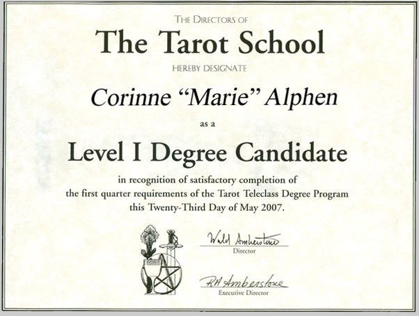 Tarot Card Readings - Tarot Certifications