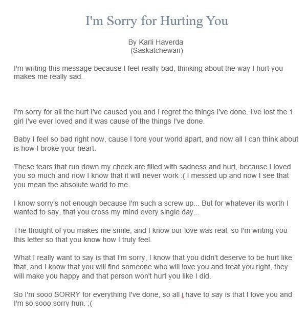Sorry letter to your Boyfriend – 7 Free Sample Letters – Sorry Letters