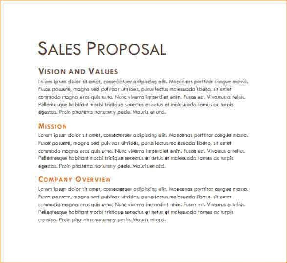 Sample sales proposal - Business Proposal Templated - Business ...