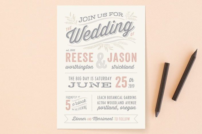 Wedding invitation wording that won't make you barf