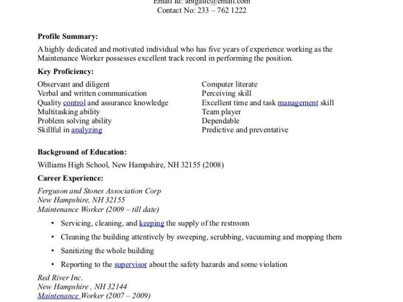 Sample Resume Factory Worker | haadyaooverbayresort.com