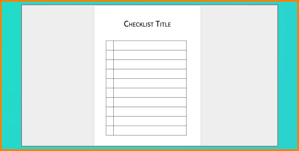 7+ checklist template for word | resume reference