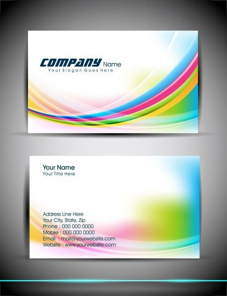 Abstract business card templates free vector download (36,443 Free ...