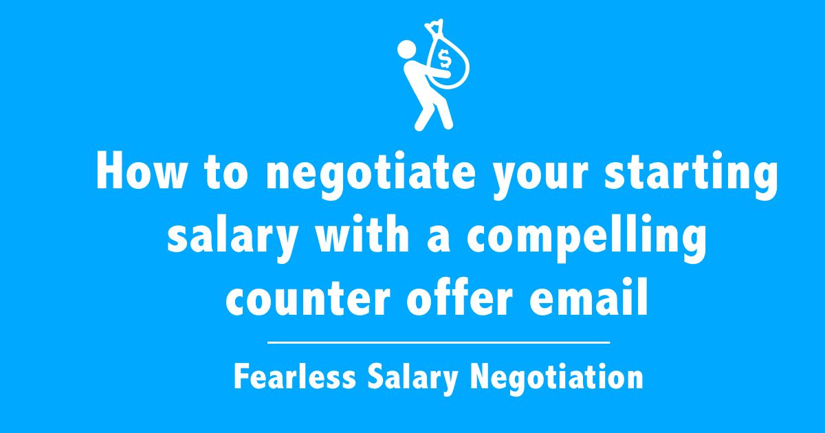 Salary negotiation email sample - free counter offer letter templates