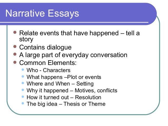 good topics to write a narrative essay on a good narrative essay ...