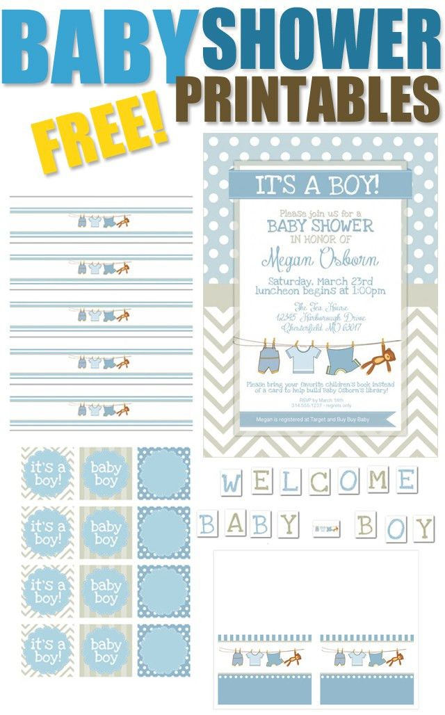 Boy Baby Shower Free Printables | Baby boy shower, Boys and Babies