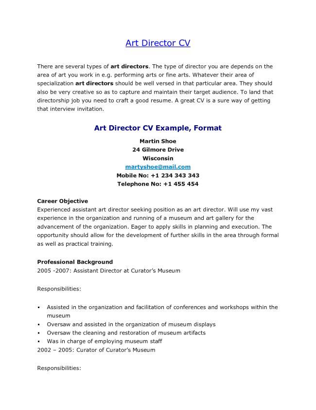 Entry-level Art Director Resume Sample : Vinodomia