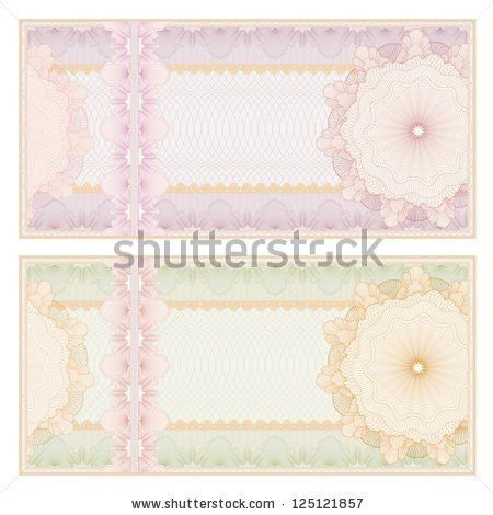 Voucher Gift Certificate Coupon Ticket Template Stock Illustration ...