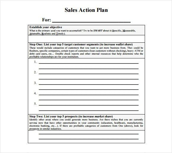 Sample Sales Action Plan Template. Sales Action Plan Template Pdf ...