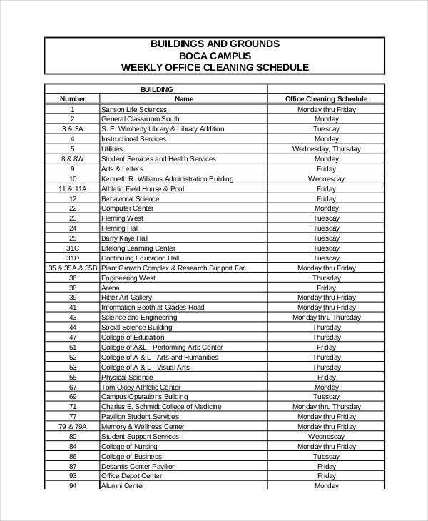 nursing schedule template