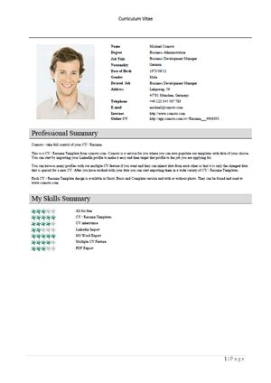 Free Resume Templates – Elegant – Download – Comoto
