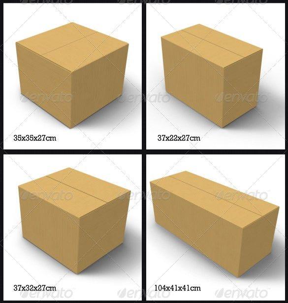13+ Cardboard Box Templates & Mockups | Free & Premium Templates