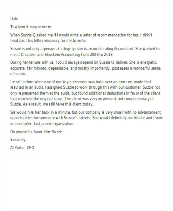 8+ Employee Reference Letters - Free Samples, Examples Format ...