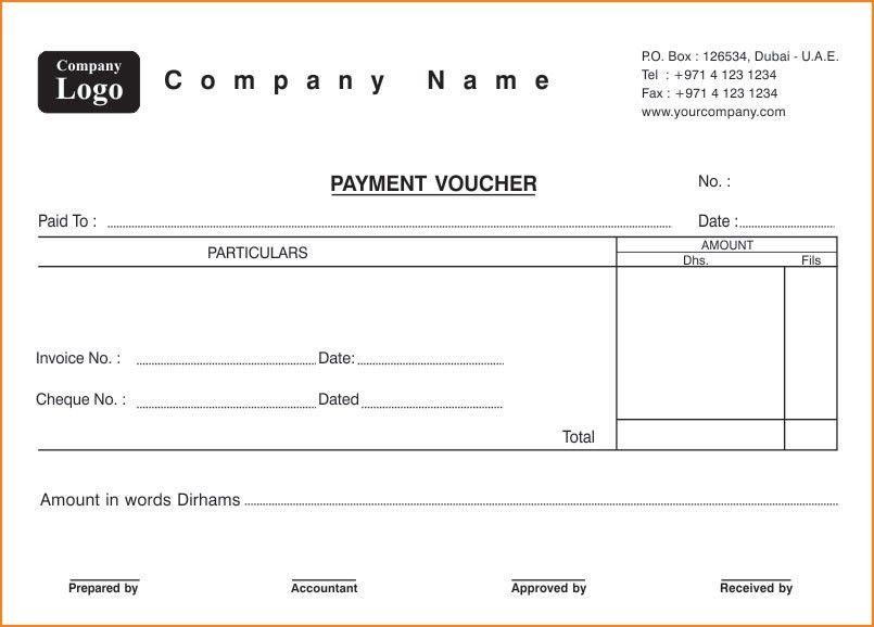6+ Free Voucher Templates - Excel PDF Formats
