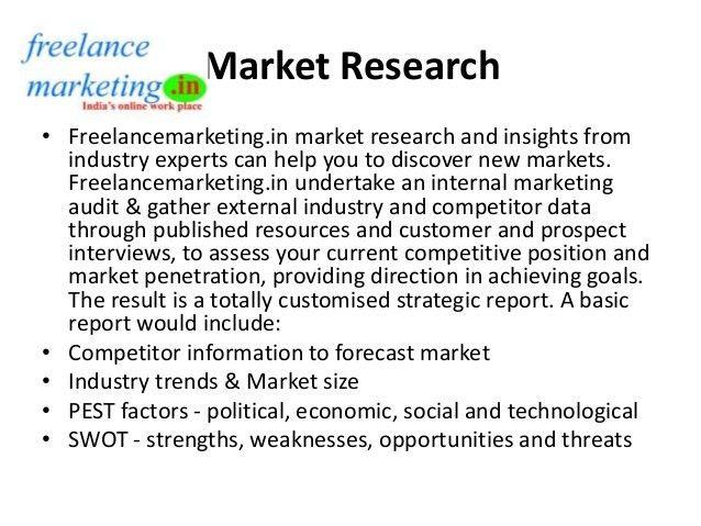 Marketing services - freelance marketing - www.freelancemarketing.in