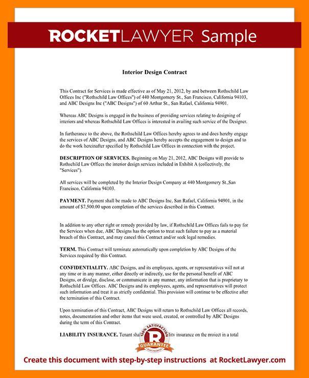 5+ interior design contract | student resume template