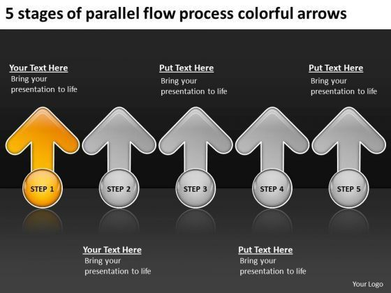 Flow Process Colorful Arrows Free Printable Business Plan ...