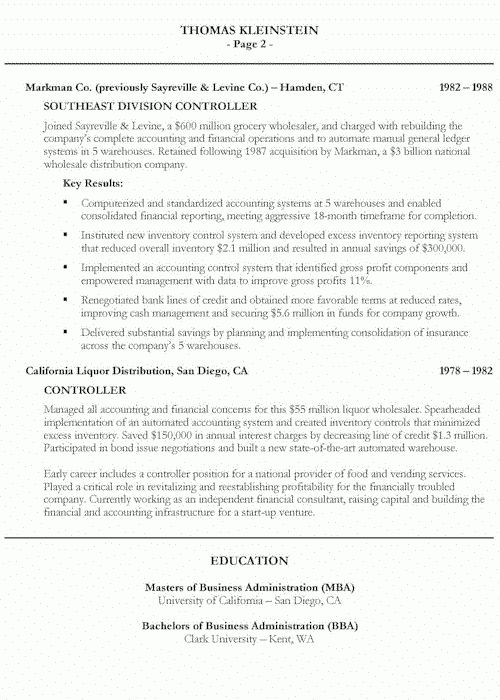 Chief Executive Officer Resume Example